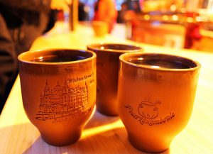 Feuerzangenbowle at German Christmas Market, traditional winter drinks