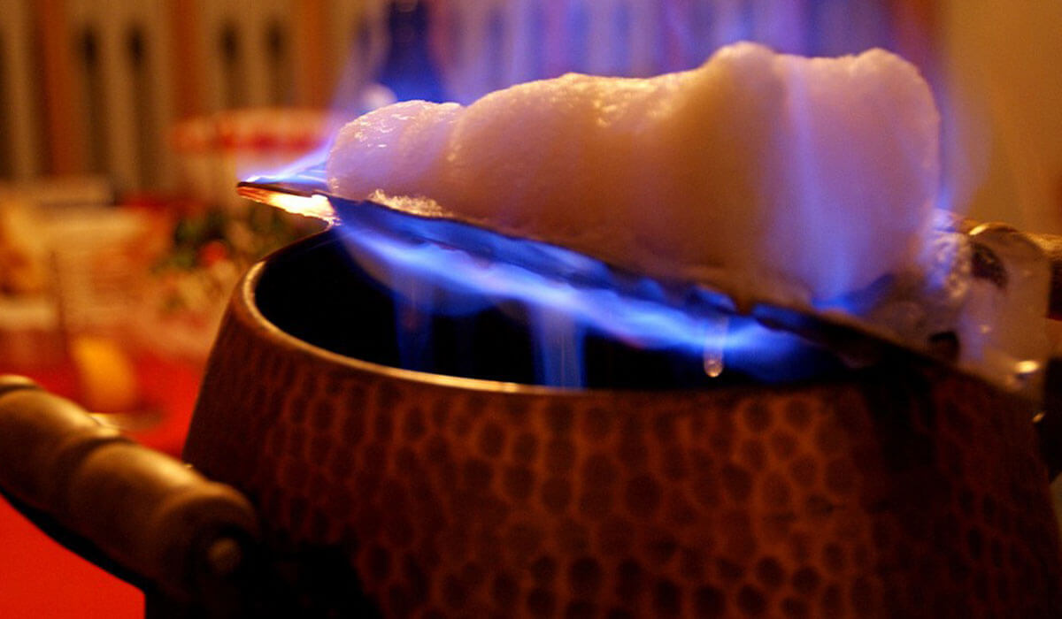 Feuerzangenbowle: traditional hot alcoholic drink from Germany, similar to mulled wine