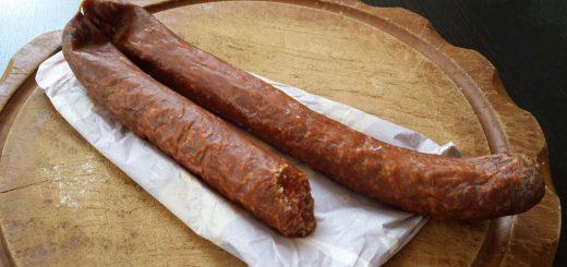 Rohesser, traditional German smoked raw sausages