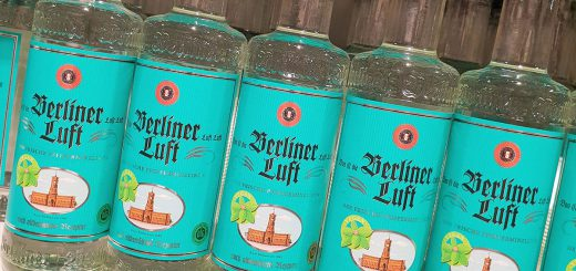 Original Berliner Luft, traditional peppermint liquor from Eastern , usually drunk as shots